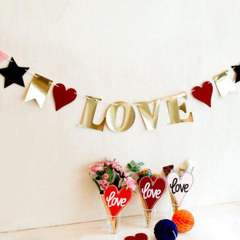 Best Wedding Home Decor Love Birthday Banner Bunting Party Supplies