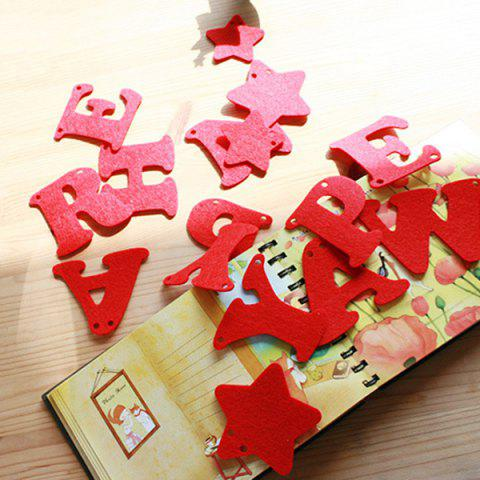 Store Happy New Year Letter Banner Prop Party Home Decoration - RED  Mobile
