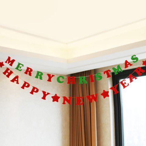 Chic Happy New Year Letter Banner Prop Party Home Decoration - RED  Mobile