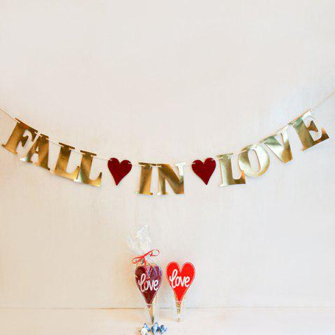 Chic Fall In Love Wedding Decor Banner Bunting Prop Party Supplies