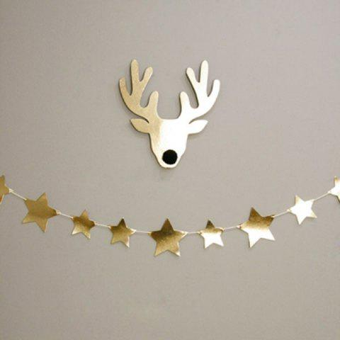 Buy Gold Star Bunting Garland Christmas Party Decoration Supplies
