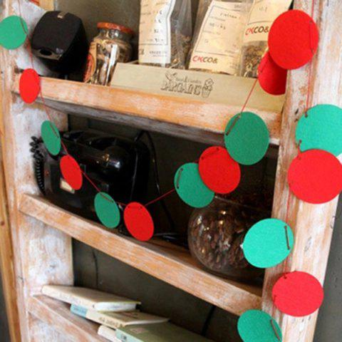 Trendy Christmas Party School Ball Bunting Garland Prop Decoration - RED AND GREEN  Mobile