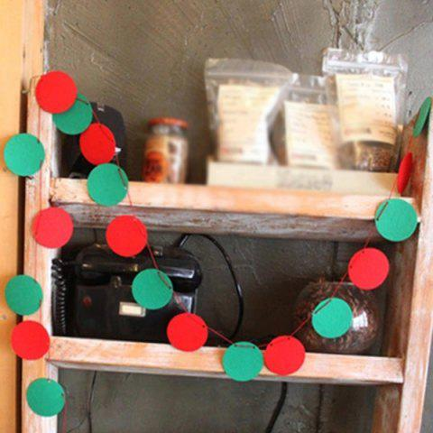 New Christmas Party School Ball Bunting Garland Prop Decoration - RED AND GREEN  Mobile