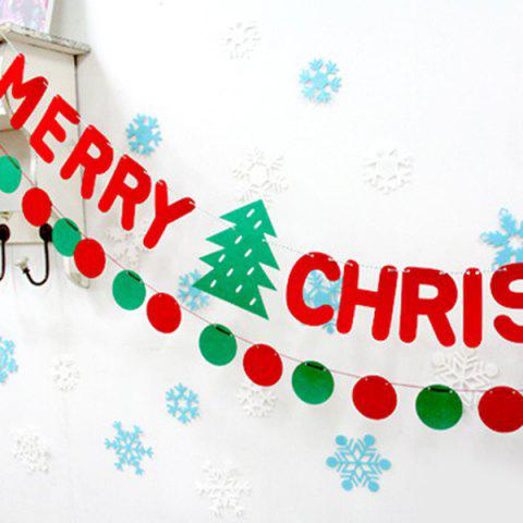 Sale Christmas Party School Ball Bunting Garland Prop Decoration - RED AND GREEN  Mobile