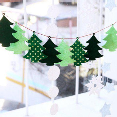 Cheap Christmas Tree Bunting Garland Prop Party Showcase Decoration GREEN