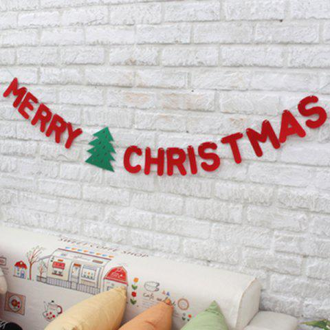 Sale Merry Christmas Letter Banner Bunting Garland Party Decoration RED