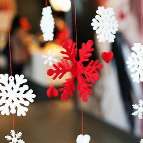 New Christmas Showcase Decoration Snowflake Hanging Garland Prop RED WITH WHITE