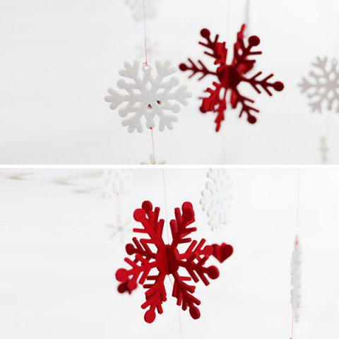 Buy Christmas Showcase Decoration Snowflake Hanging Garland Prop - RED WITH WHITE  Mobile
