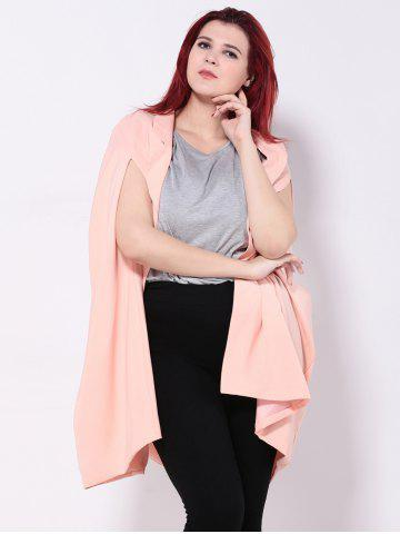 Discount Loose-Fitting Asymmetric Cape SHALLOW PINK 2XL