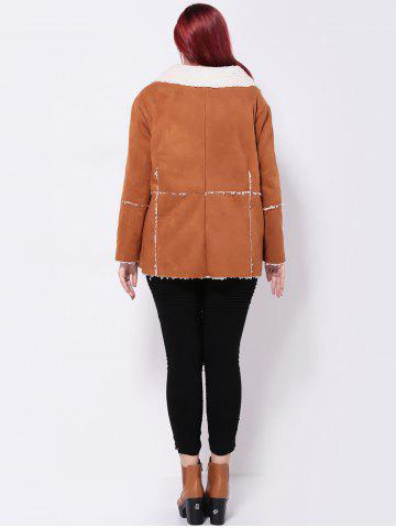 Outfit Faux Suede Spliced Jacket - 3XL CAMEL Mobile