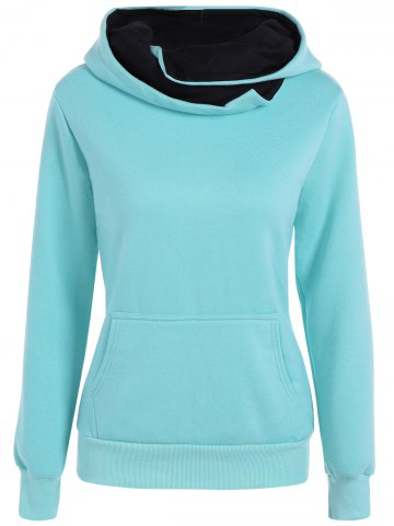 New Slim  Fit Hoodie With Pocket LIGHT BLUE XL