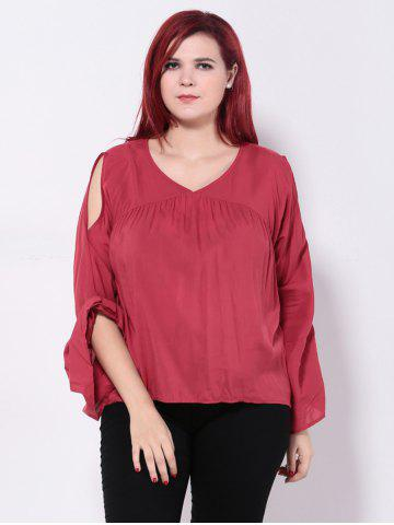 Hot Bell Sleeves Back Cut Out Blouse