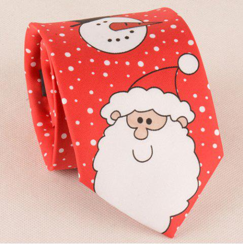 Outfit Funny Santa Claus Snowman Print Christmas Tie