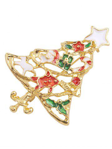 Affordable Trendy Christmas Tree Openwork Brooch - RED  Mobile
