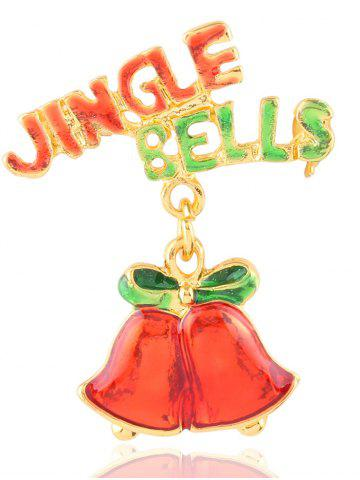 Affordable Christmas Jingle Bells Letters Brooch