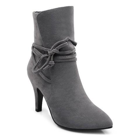 New Stiletto Heel Pointed Toe Short Boots