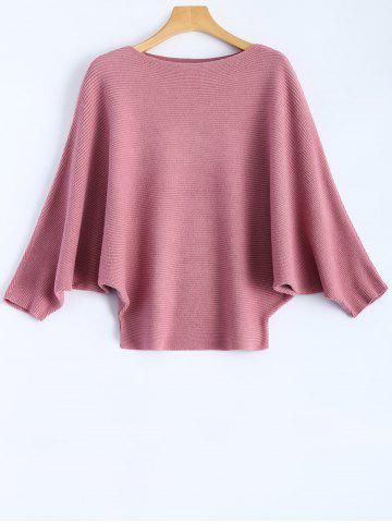 Unique Dolman Sleeve Ribbed Knitwear