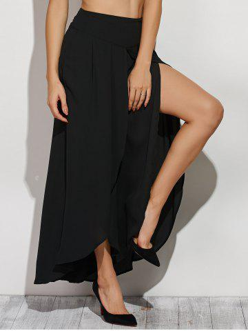 Fashion High Slit Chiffon Bud Culotte Pants