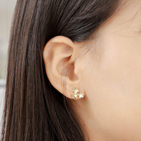 Fashion Alloy Star Jewelry Earring Set - GOLDEN  Mobile