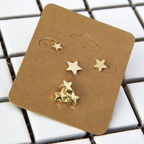 Unique Alloy Star Jewelry Earring Set - GOLDEN  Mobile