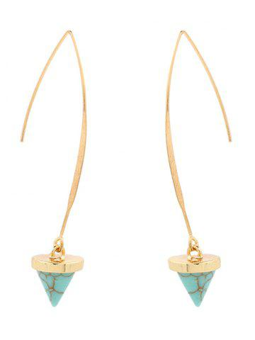 Fashion Artificial Turquoise Cone Earrings GREEN
