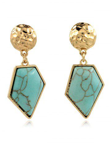 Artificial Turquoise Irregular Geometric Earrings - GREEN