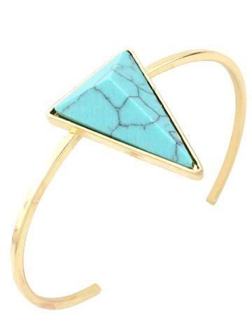Unique Artificial Turquoise Triangle Cuff Bracelet GREEN