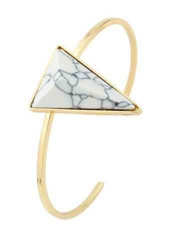 Artificial Turquoise Triangle Cuff Bracelet - White