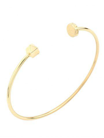Online Alloy Triangle Gold Plated Cuff Bracelet GOLDEN