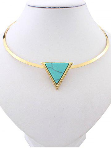Shop Artificial Turquoise Triangle Necklace GREEN