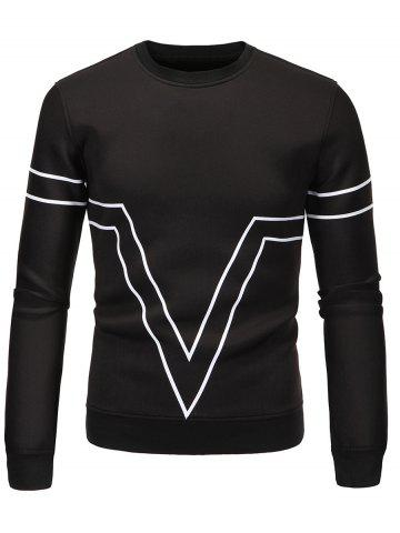 Buy Striped Triangle Printed Long Sleeve Sweatshirt