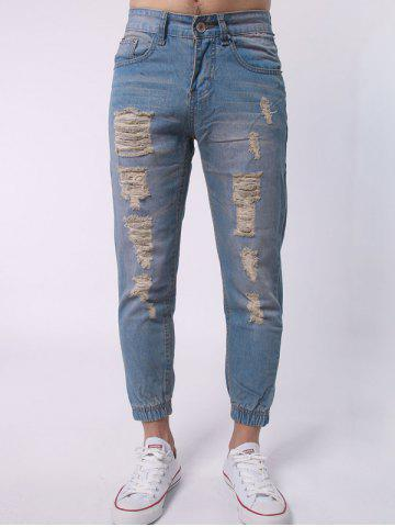 Best Zipper Fly Distressed Jean Joggers