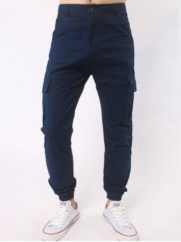 Trendy Side Pockets Chino Cargo Pants