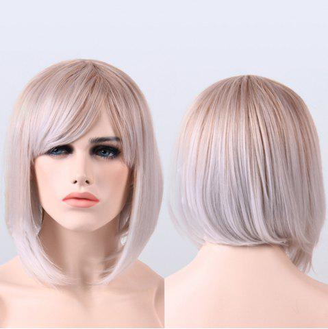 Fashion Full Bang Short Ombre Color Straight Heat Resistant Fiber Wig