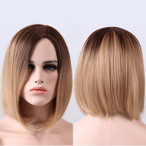 Cheap Short Straight Synthetic Ombre Side Parting Wig