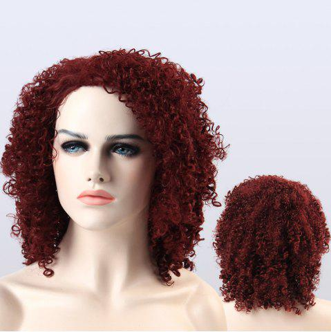 Online Adiors Shaggy Medium Afro Curly Synthetic Wig