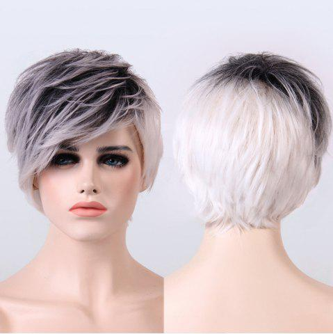 Sale Adiors Short Ombre Color Fluffy Straight Synthetic Wig