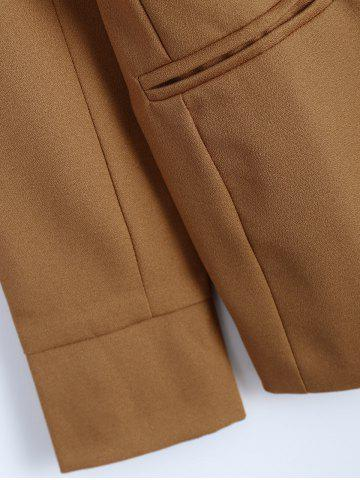 Sale Front Pocket Slim  Fitted Blazer - L CAMEL Mobile