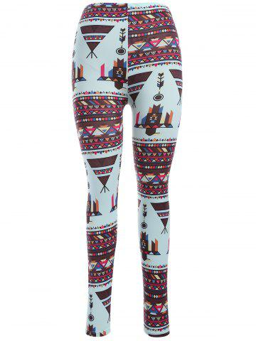 Affordable Abtsract Print Leggings