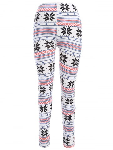 Unique Christmas Snowflake Ankle Leggings