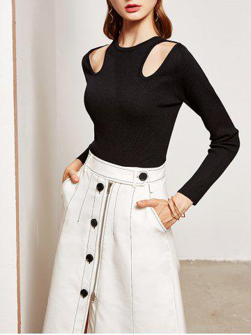 Online Slimming Cut Out Knitwear