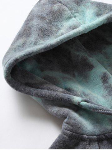 Sale Ombre Topstitched Pocket Design Hoodie - ICE BLUE XL Mobile