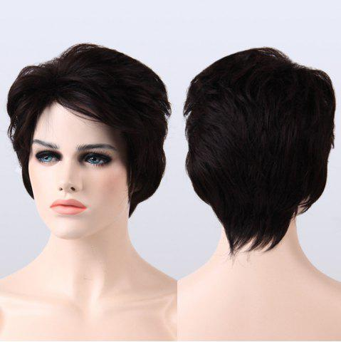 Buy Spiffy Short Side Bang Shaggy Curly Synthetic Wig