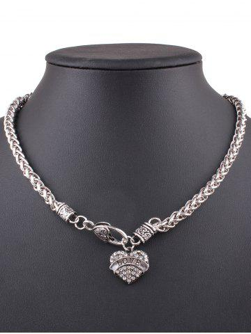 Discount Rhinestone Love Heart Necklace