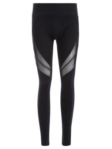 Cheap Quick-Dry Tight Yoga Pants BLACK M