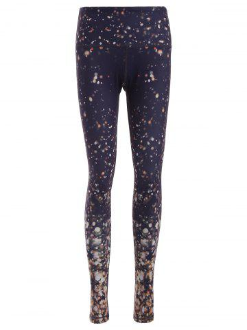 Outfit Galaxy Print Skinny Yoga Pants COLORMIX M