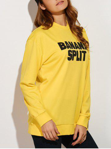 Discount Banana Split Oversized Yellow Sweatshirt