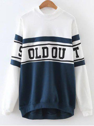 Shops Color Block Letter Print Oversized Sweatshirt