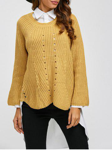 Shop Long Sleeve Pullover Sweater GINGER ONE SIZE
