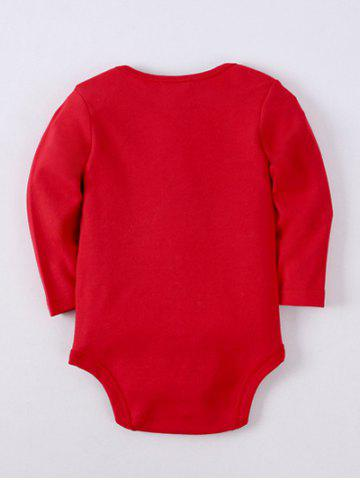 Fancy Kids Long Sleeve Letter Baby Romper - 80 RED Mobile